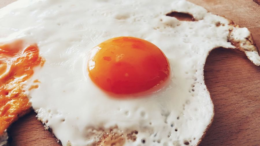 Food Close-up Egg Yolk Food And Drink Freshness Healthy Eating Fried Egg No People Egg White Indoors  Day Launch Fresh Fried Egg Yolk Breakfast Brunch Healthy Eat Eating