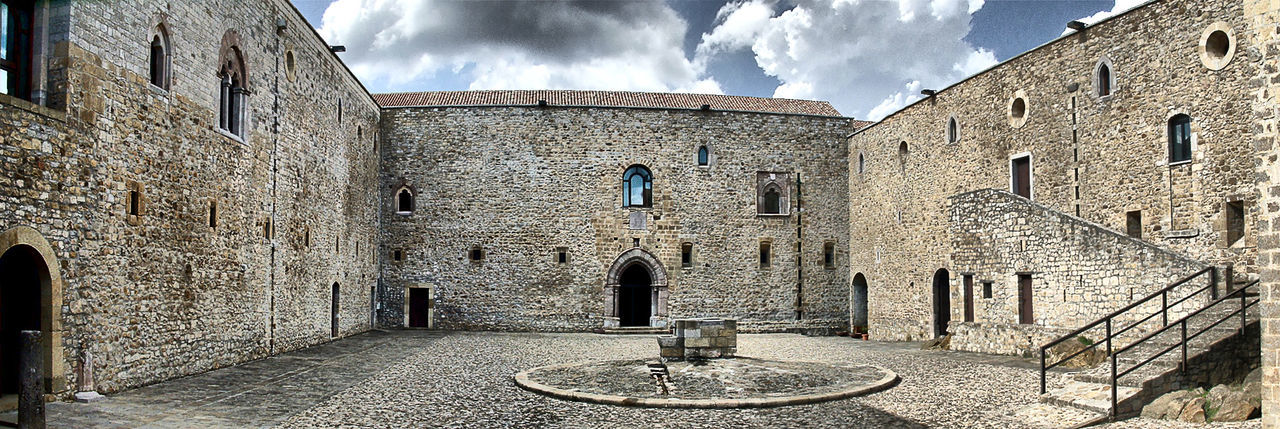 Let's Go. Together. Architecture Built Structure Building Exterior History Day Outdoors Cloud - Sky Sky No People Maxepersonalphoto Italy 🇮🇹 Lagopesole Travel Photography Architecture Panoramic EyeEmNewHere