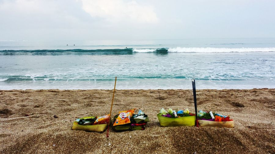 Beach Beauty In Nature Day Horizon Over Water Nature Nautical Vessel No People Outdoors Sand Scenics Sea Sky Water Hinduism Offerings Kuta Beach Bali Been There.