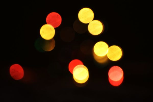 Defocused Illuminated Red No People Night Pattern Variation Yellow Multi Colored Black Background Outdoors City Close-up