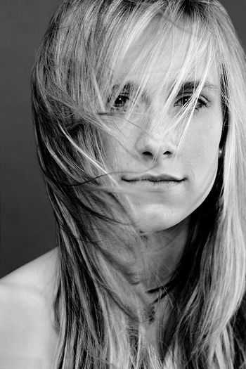 Beauty shot with scattered hair Portrait Of A Woman Windy Hair Beautiful Woman Beauty Black And White Friday Blackandwhite Blond Hair Close-up Hairstyle Headshot Looking At Camera People Studio Shot Young Adult Young Women EyeEmNewHere