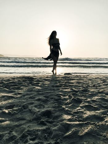 Sea Beach One Person Full Length Sand Real People Nature Beauty In Nature Water Lifestyles Long Hair Young Adult Leisure Activity Young Women Scenics Outdoors Horizon Over Water Sunset Women Beautiful Woman The Week On EyeEm EyeEmBestPics EyeEm Best Shots EyeEm Selects EyeEm Gallery