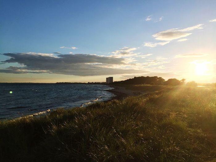 Fehmarn Fehmarnsundbrücke Sonne Sonnenuntergang <3 Urlaub Südstrand
