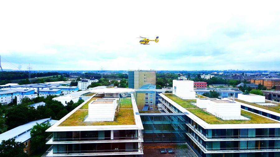 Hellicopter Düsseldorf Uniklinikum Düsseldorf-Walk Perspective