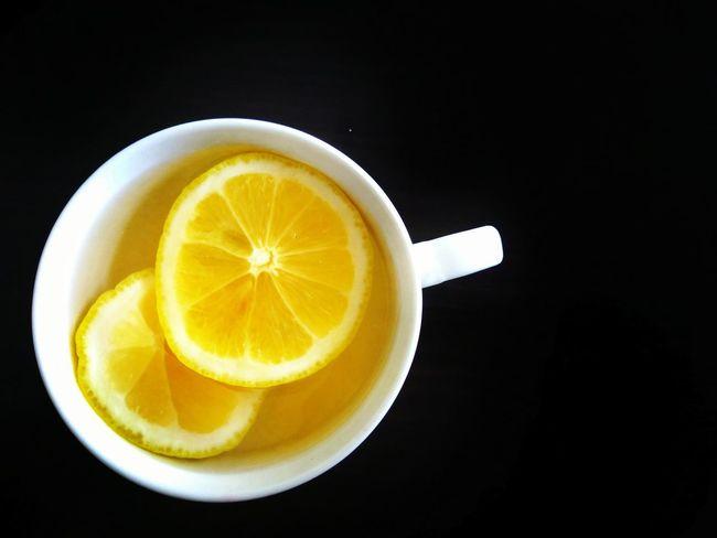 """Lemonade"" Lemon Tea Diet Yellowfruit Cup Toxin Dieting Concept Drink Healthy Eating Food And Drink Black Background Drink Lemon Freshness Tea - Hot Drink"