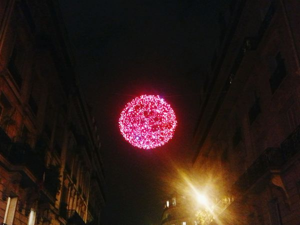 Christmas Decorations Christmas Ornaments Paris La Nuit A Touch Of Red Red Star Darkness And Light Night Lights