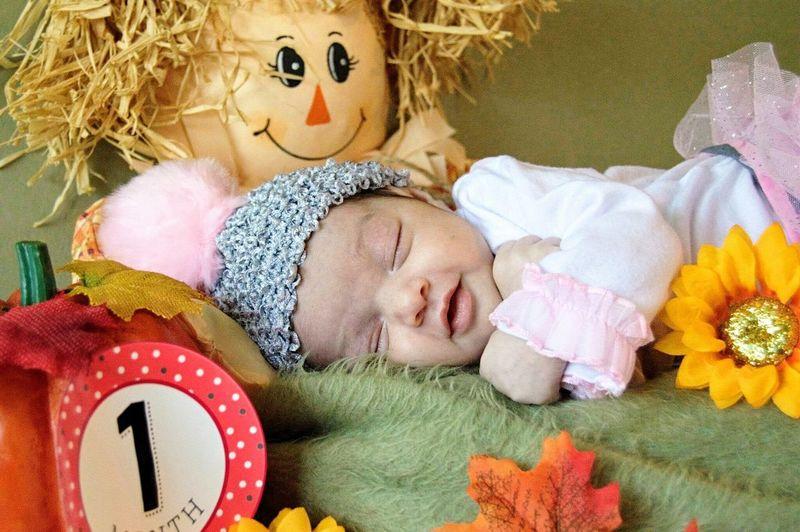Teddy Bear Cute Childhood Lying Down Indoors  Smiling One Month Child Baby Innocence Girl Detroit Babysleeping Babyhood Beginnings