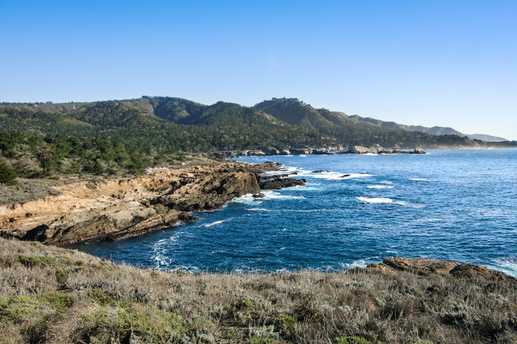 breathtaking views Montereybayca Monterey Pacificgrove Nature Landscapes Blue Happy Hot Weather Water Tree Clear Sky Mountain Sea Beach Sky Landscape Rocky Coastline Tranquil Scene Tranquility Idyllic Remote Scenics Ocean Shore Rugged Horizon Over Water Calm Pine Woodland Coastline Pine Tree
