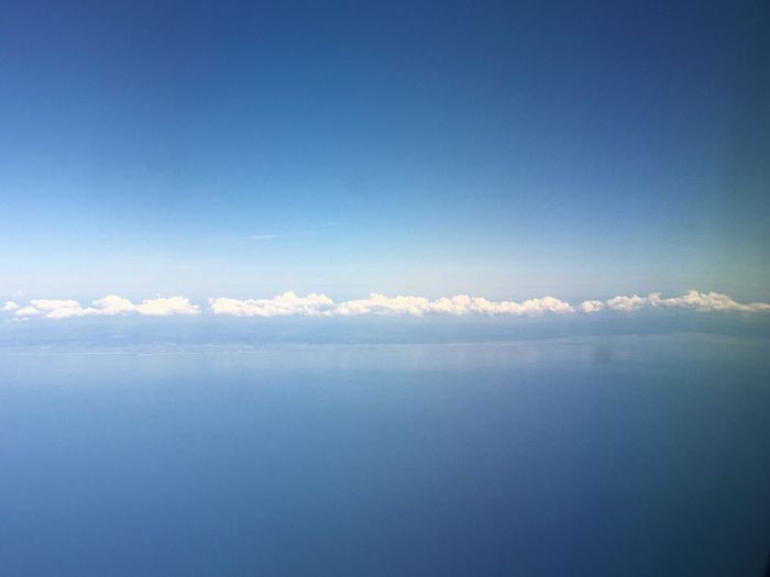 Nature Sky Scenics Tranquil Scene Tranquility Cloud - Sky Beauty In Nature Blue Sea Idyllic Day No People Outdoors Sky Only Horizon Over Water Water