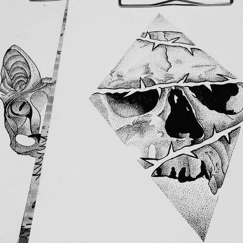 Tattoo Dotwork Tattooartist  Bllackandwhite Skull Skulls Art Artistic ArtWork Araf Art Tattoo