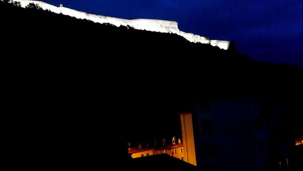 Besancon France Window View Citadelle De Besançon Vauban Military Builds Night Photography Night Urban Lights Light And Shadow Contrast Colorful