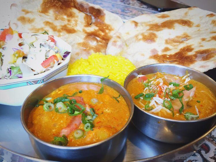 ココナッツチキンカレー&たまごとじゃが芋のカレー☆namaste Carry インドカレー カレー India 広島 Roopali