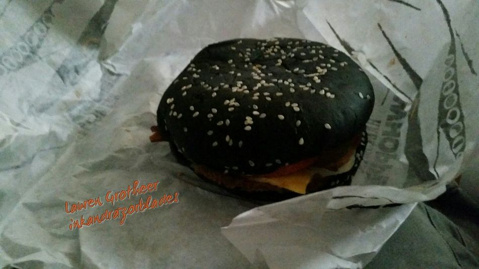 Tried the halloween whopper Burgerking Halloween Fastfood Aone Charbroiledburgers