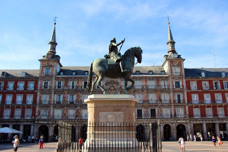 Plaza De Mayor Hanging Out Travel at Madrid,spain