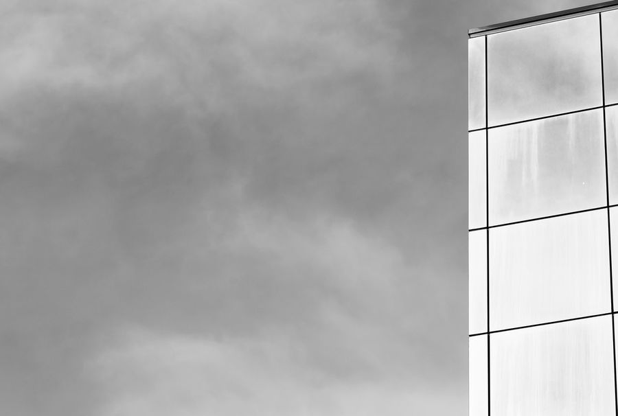 Architecture Biancoenero Blackandwhite Building Exterior Built Structure Centro Storico Di Messina Cielo Nuvoloso Cloud - Sky Glass Palace Italy Low Angle View Messina No People Outdoors Palazzo Di Vetro Sicily Sky