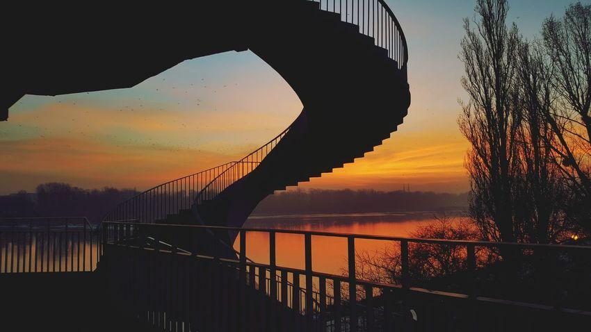 Warsaw Poland Warsaw Sunrise Dawn Dawn Of A New Day River Wisła Wisła River Vistula River Vistula Day