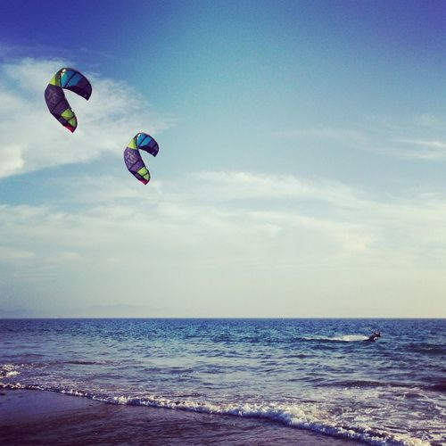 Sometimes two kite better than one. Kite Kitesurfing SPAIN Bestkiteboarding Summer Andalucía