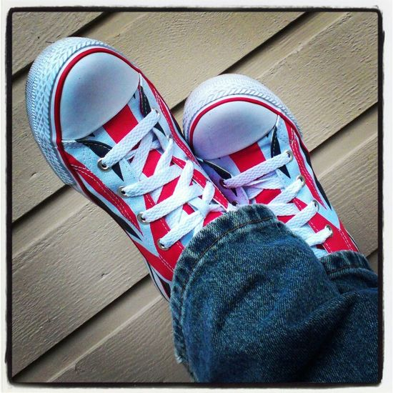 My brand new, Lee Cooper, Union Jack adorned, casual shoe. Love them. Copyright Protected by Adrian Brown. Photo28.