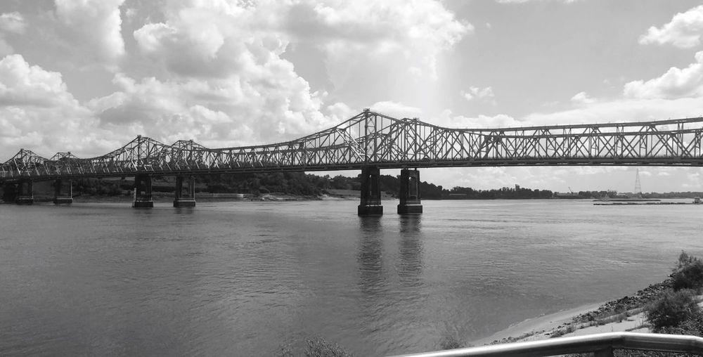 The Bridge Louisana Bridge Natchez Sky Water Bridge Architecture