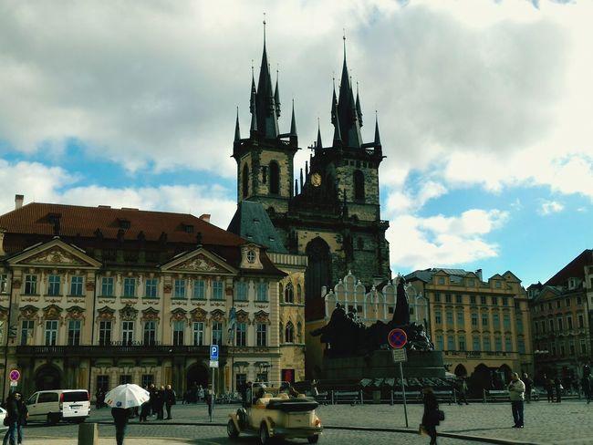Prague Prague♡ Prague Czech Republic Oldtownsquare Oldtownprague Photography stmaryschurch Vintagecar