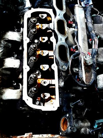engine head and exhaust manifold Motor Engine Engines Mechanical Engine Repair Full Frame Motors
