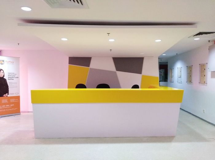 Reception desk EyeEm Selects Modern Architecture Architectural Design Architectural Feature Ceiling Architectural Detail Architecture And Art Interior