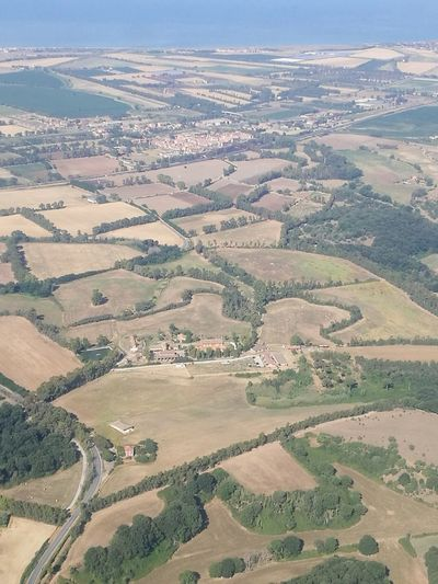Aerial view of Rome Agriculture Landscape Farm Field Rural Scene Scenics Beauty In Nature Tranquil Scene Nature Aerial View Outdoors Tranquility Day No People Tree