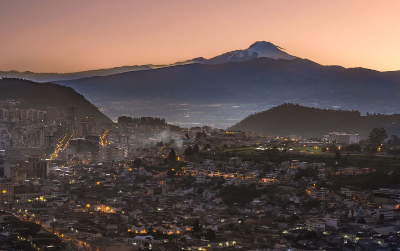 Quito cityscape and the Cayambe vulcano Beauty In Nature Cayambe Cityscape Ecuador Landscape Mountain Mountain Range Nature No People Outdoors Quito Scenics Sky South America Tranquility Travel Destinations Vulcano This Is Latin America