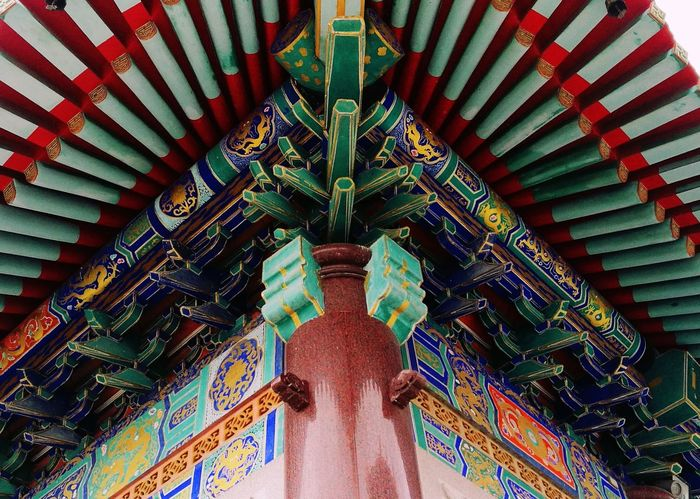 Architecture Built Structure No People Chinese Chinese Art Chinese Style Chinese Temple Roof Day Colorful View Colors Fresh Colors HuaweiP9