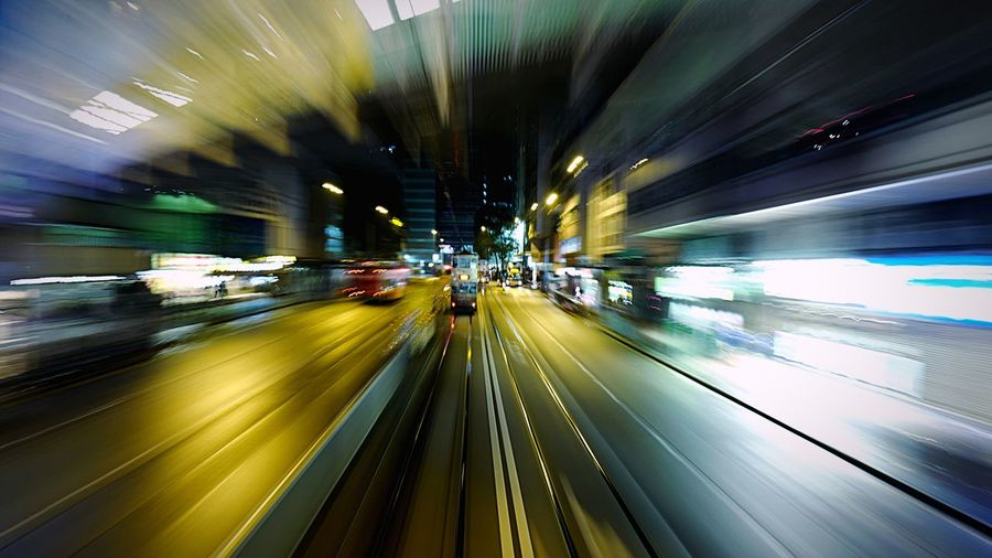 tram at NP HongKong Discoverhongkong Tram Nightphotography Streetphotography Light And Shadow Shadow Slow Shutter Hello World Traveling Night 香港 夜景 Pmg_hok