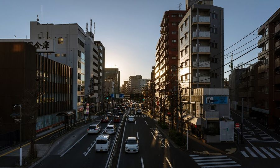Tokyo, Japan, 2018. 6642 https://instagram.com/p/BihIWDKFIMg/ EyeEm Best Shots Japan Photography Building Exterior City Transportation Architecture Built Structure Car Motor Vehicle Street Road Building Traffic