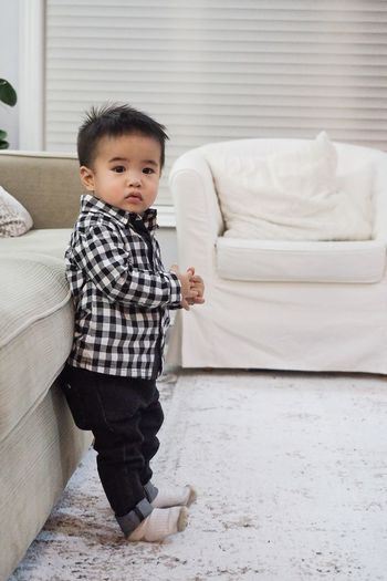 Just hanging out looking handsome as ever Baby Gap Osh Kosh B'gosh Zarakids Sponsor Me Baby Boy Portrait Full Length Childhood Looking At Camera Baby Cute Baby Clothing Babyhood Toddler  One Baby Boy Only 12-17 Months Living Room Home Sweet Home Sofa Babies Only