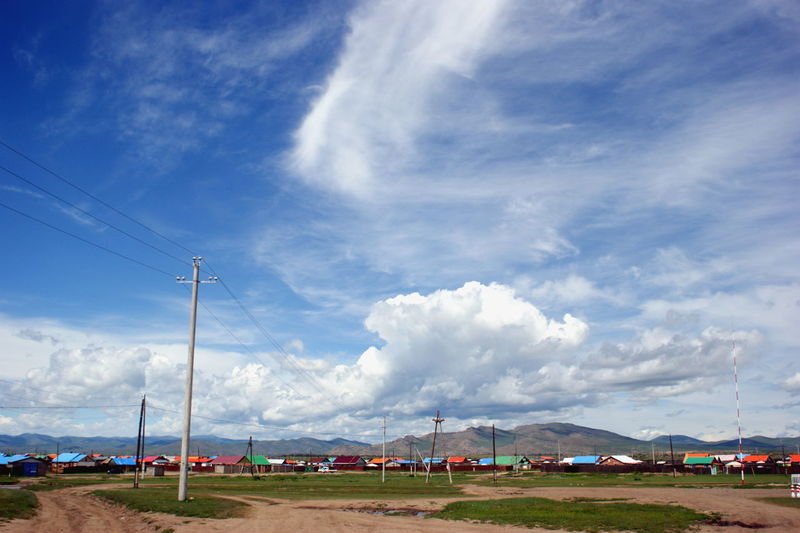 Mongolia Cloud - Sky Colorful Day Electricity Pylon Environment Landscape Mountain Nature No People Outdoors Sky Steppe Village Монгол улс
