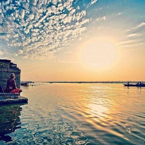 Skyporn Varanasi Ganges River Yogis