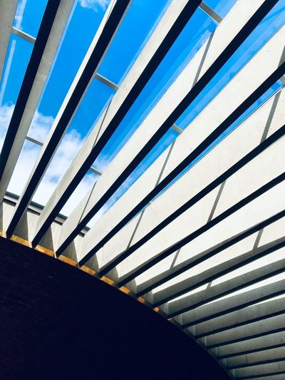 Architecture Church ShotOnIphone Helsinki Helsinki,finland Finland Helsingborg  Church Architecture No People Day Pattern Built Structure Low Angle View Architecture Sky Nature Outdoors Full Frame Clear Sky Striped Blue City Ceiling Backgrounds Sunlight Close-up Metal