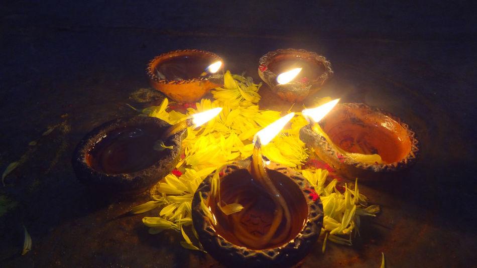 Diwali Celebration Diwali Night.... :-* Diyas✨✨ Diwali💟🎇🎆🌌