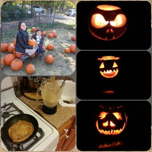 Had the most pumpkingful day with my loves ♥ @nat22tur @dzokerski Pumpkinpicking Pumpkincarving Pumpkinpancakes Pumpkinmania pumpkins whenyousayawordsomuchitstartstosoundfunny halloween fall october sundaysunday happy smiles
