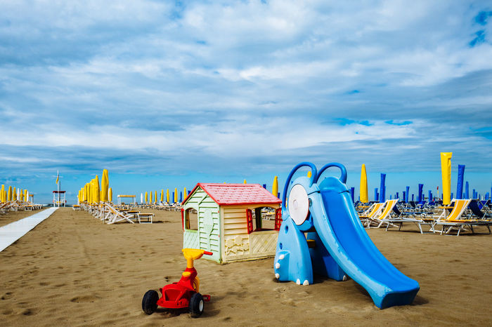 Camaiore Tuscany Beach Beauty In Nature Blue Childhood Cloud - Sky Day Italy Multi Colored Nature No People Outdoors Sand Sea Sky