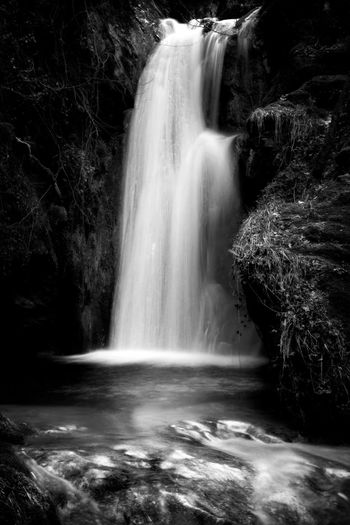 Pozza del Diavolo waterfall, in the municipality of Monte San Giovanni in Sabina, Italy. Waterfall, long exposure. Black and white Beauty In Nature Blackandwhite Blurred Motion Day Flowing Water Forest Idyllic Long Exposure Motion Nature No People Outdoors Power In Nature Rapid River Rock - Object Rock Formation Running Water Scenics Water Waterfall Waterfalls Waterfront