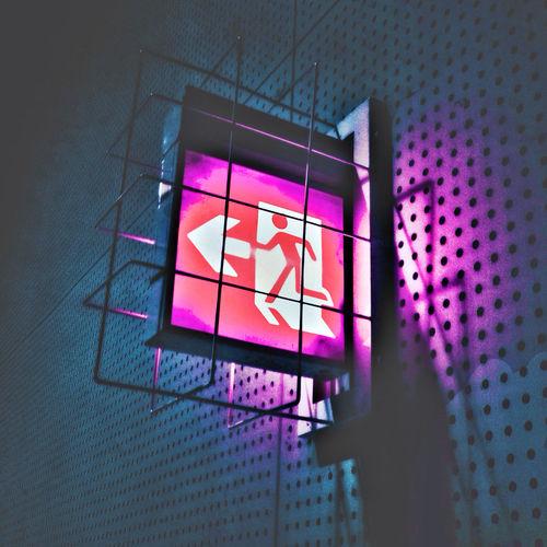 Illuminated emergency exit sign