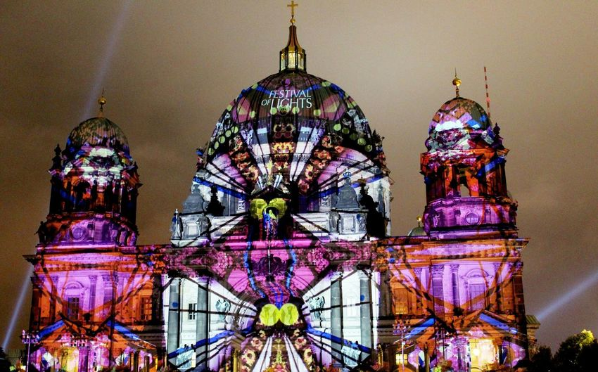 Festivaloflights Berliner Dom Berlincathedral Cathedral Illumination Nightlights Berlinleuchtet