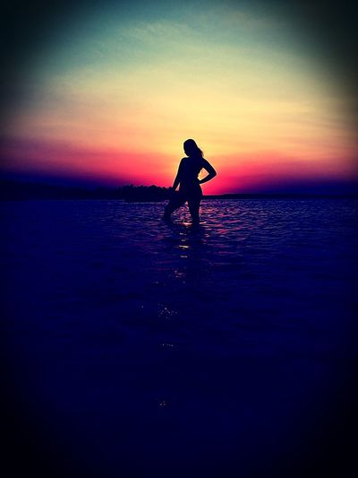Sunset.. Tondolbeach Tondolbeachandapangasinan Andapangasinan Beachbreak Beachvacation Vacationbreak Summerfeels Summer2018 Travel Travelpamore2018 Ianielle2018 Water Full Length Sea Sunset Beach Childhood Silhouette Dusk