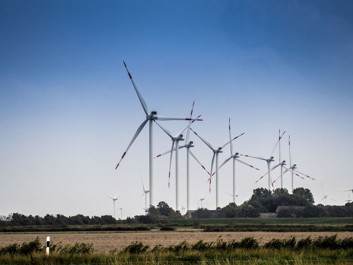 Germany Environment Wind Turbine Turbine Fuel And Power Generation Wind Power Renewable Energy Alternative Energy Environmental Conservation Sky Field Landscape Land Nature Technology Day Plant Rural Scene Clear Sky Agriculture Tree No People Sustainable Resources Power Supply