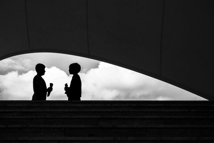 Black And White Blackandwhite Children Cloud Cloud - Sky Cloudy Day Low Angle View Moving Up Outdoors Silhouette Silhouette Sky Staircase Steps Street Photography Streetphotography The Way Forward