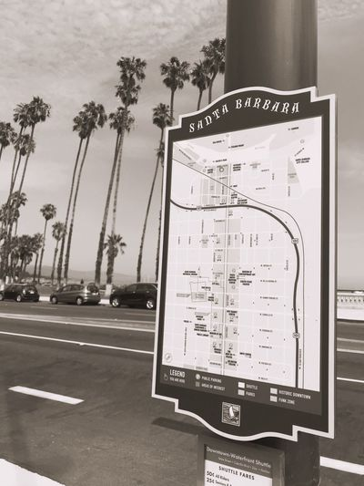 Santa Barbara Downtown City Map , California, United States, USA Black And White Blackandwhite Signs Walking City Signs City Map Map Street Sign Sign No People Text Communication Transportation Car Sign Road Western Script Mode Of Transportation Day Information Motor Vehicle Tree Plant No People Street Guidance City Nature Land Vehicle Outdoors