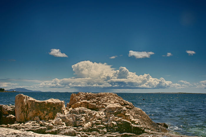 Beauty In Nature Blue Cloud - Sky Croacia Day Horizon Horizon Over Water Land Nature No People Outdoors Rock Rock - Object Rock Formation Scenics - Nature Sea Sky Solid Tranquil Scene Tranquility Water