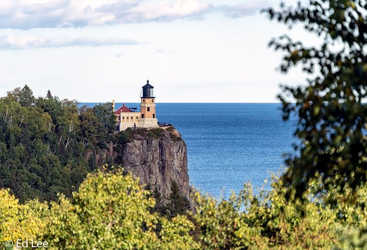 Split Rock Lighthouse Lake Superior Lighthouse Streamzoofamily Landscape_Collection Malephotographerofthemonth Water Sky Plant Architecture Built Structure Building Exterior Tree Beauty In Nature History Building