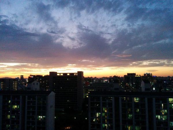 Sunset Urban Landscape Sky Sunset Silhouettes