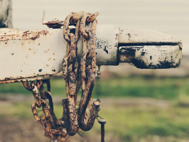 Outdoor Chain No People Focus On Foreground Trailer Hitch Rusty Chain Rust Rusty Metal Rusty Old Weathered
