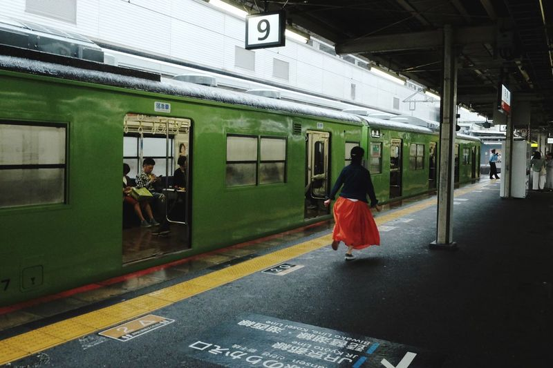 Japan2018 The Street Photographer - 2018 EyeEm Awards Colors The Traveler - 2018 EyeEm Awards Summer Road Tripping FilipinoStreetPhotographers Streetphotography Everydayeverywhere Transportation Architecture Real People One Person Public Transportation Built Structure Rear View